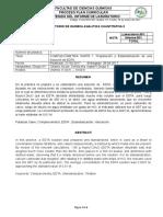 Informe #1. Preparación y Estandarización de EDTA