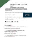 Reglas Basicas Sobre El Uso de Mayuscula