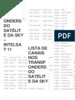 Lista de Transponders Do Satélite Da Sky