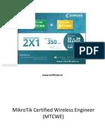MTCWE Certificate