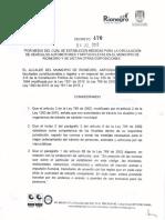 Decreto 470 - Día sin carro