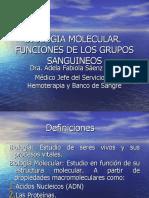 Biologia Molec. Func. Grupos Sang. 2016