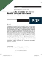 Bosco, E. Ferreira, L. - Sociedade Mundial de Risco. Teoria, Críticas e Desafios