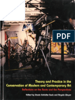 Theory and Practice in the Conservation of Modern and Contemporary Art - Schaudler-Saub, Ursula