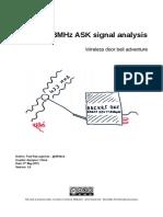 433MHz ASK Sginal Analysis-Wireless Door Bell Adventure-1.0