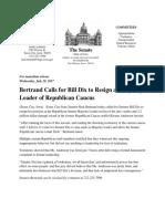 Bertrand Press Release DIX Resignation