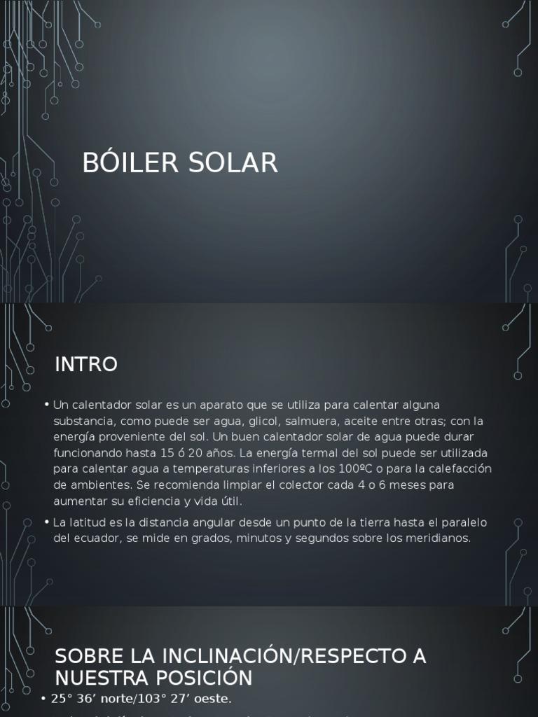 Bóiler Solar