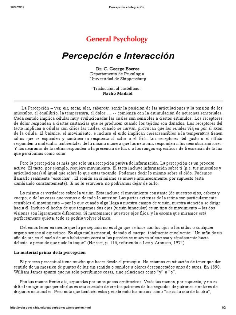 Percepción e Integración