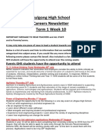 GHS Careers Newsletter
