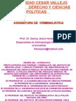 ASIGNATURA DE CRIMINALISTICA  CESAR VALLEJO  2013.ppt
