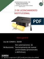 UNA – PUNO-trabajo Licenciamiento Institucional-si