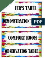 Classroom Label