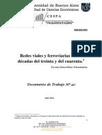 Gomez - Redes Viales y Ferroviarias en Las Decadas Del Treinta y Del Cuarenta