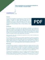 Metodología Para Elaborar Un Calendario Deportivo Bajo El Sistema Round Robin