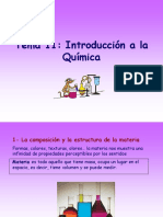 Tema 11 Introduccion a La Quimica