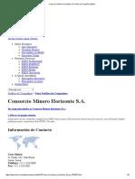 Consorcio Minero Horizonte S.a Ratios