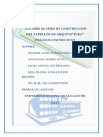 Unsa 2017 Procesos Constructivos Informe de Obra Arquitectura