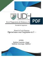 Manual de Uso Programación de Operaciones Con Conjuntos en C