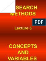 RMM Lecture 5 Concepts and Variables