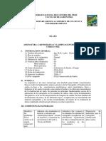 Silabo de Cartografia y Clasificacion de Suelos 2016-i