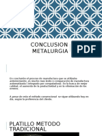 Conclusion Metalurgia
