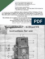Voigtlander Brilliant v6