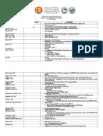 AP Division Calendar of Activities in Araling Panlipunan s.y. 2017 18