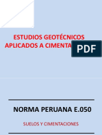 Estudios Geotécnicos Aplicados a Cimentaciones
