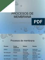 Procesos de membrana
