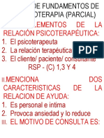 Parcial II Psicoterapia