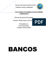 Análisis de Factores Económicos de Interés Compuesto