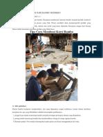 Cara Membuat Kursi Dari Bambu Moderen