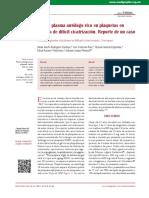 2014 Uso de plasma autólogo rico en plaquetas en ulceras de dificil cicatrizacion re´prte de caso