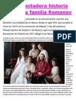 La Devastadora Historia Real de La Familia Romanov