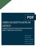 Common Law Concepts in Qatari Law Contracts (RICS)