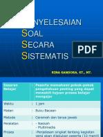 2. Pendekatan Penyelesaian Secara Sistematis (Rs)