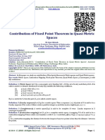Contribution of Fixed Point Theorem in Quasi Metric Spaces