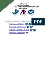 Referentiel Nf Fenetres Bois Et Portes Exterieures - Acotherm
