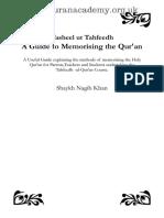 A Guide to Memorising the Quran by Shaykh Nagib Khan