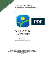 Tugas UAS Manajemen Proyek Energi