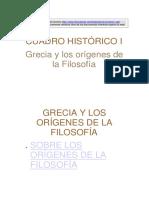 Grecia y Los Orígenes de La Filosofía