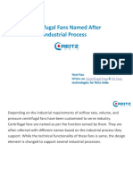 Centrifugal Fans Named After Industrial Process