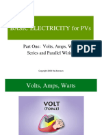 10.25.14BASIC ELECTRICITY Part 1-Volts, Amps, Watts, Series, Parallel[1]
