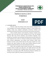 328348361 Pedoman Manual Mutu Puskesmas Sambong 2016