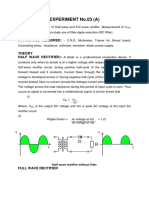 Half Wave and Full Wave Rectifier