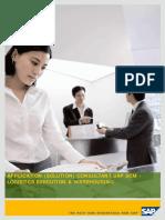 Application (Solution) Consultant Sap Scm Qm