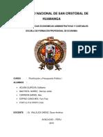 Trabajo Plan de Desarrollo Regional Concertado