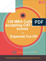 eBook Cat2016 Cutoffs for Top Mba Colleges India