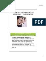 Tema 1. Centros Coordinadores de Urgencias y Emergencias