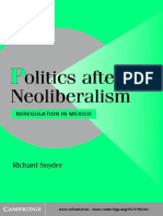 Snyder - Politics After Neoliberalism; Reregulation in Mexico (2001)